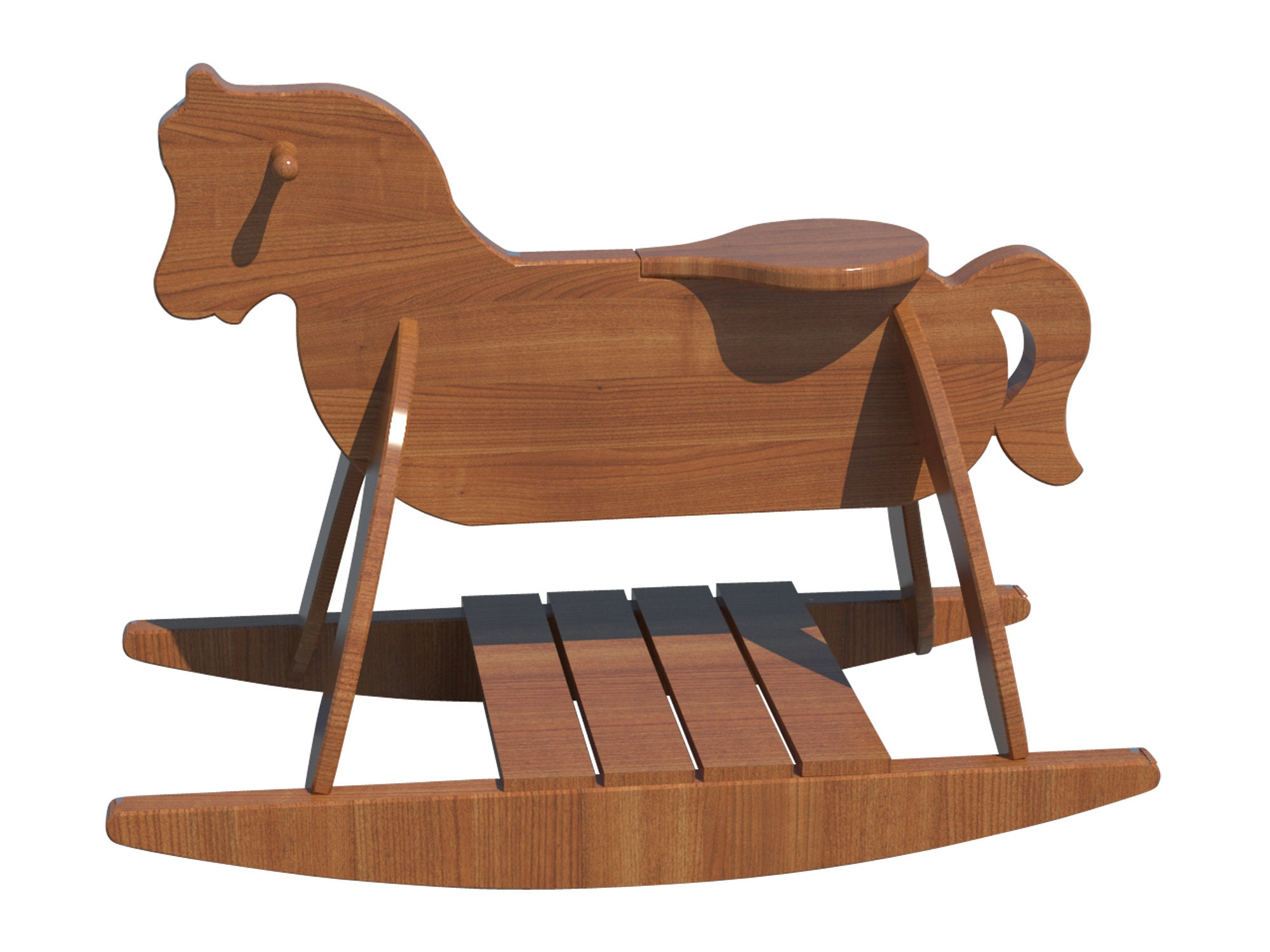Wooden Rocking Horse Plans Diy Playroom Baby Rocker