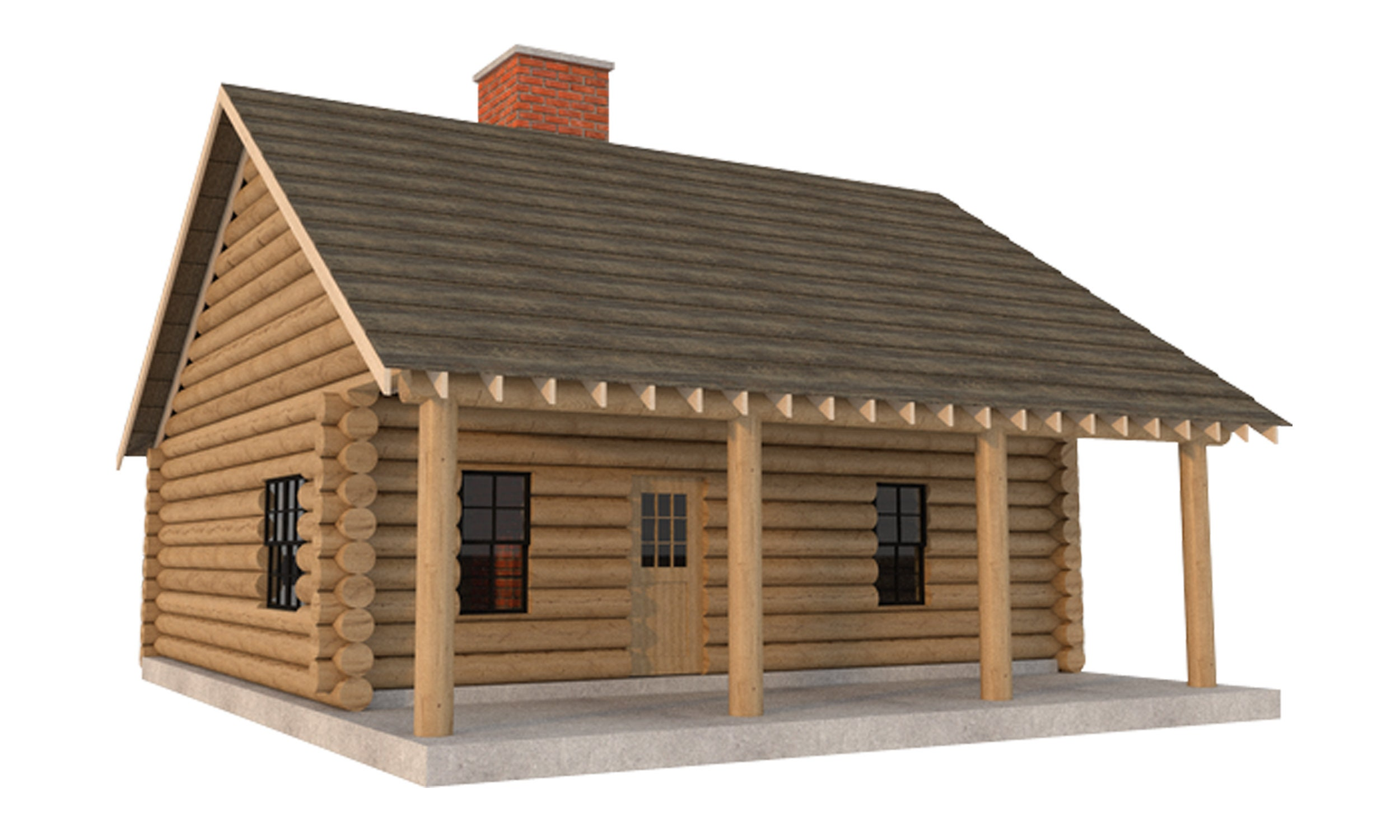 log cabin house plans diy 2 bedroom vacation home 840 sq. Black Bedroom Furniture Sets. Home Design Ideas