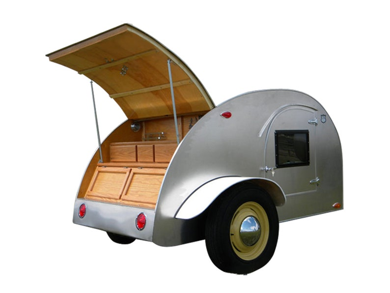 8' Teardrop Camper Trailer DIY Plans Tear Drop Vintage Camper RV Build Your  Own