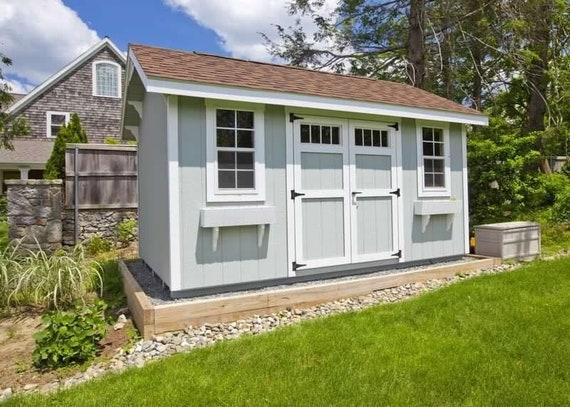 Saltbox Roof Storage Shed Plans Diy Backyard Garden Shed Barn Building 10 X20