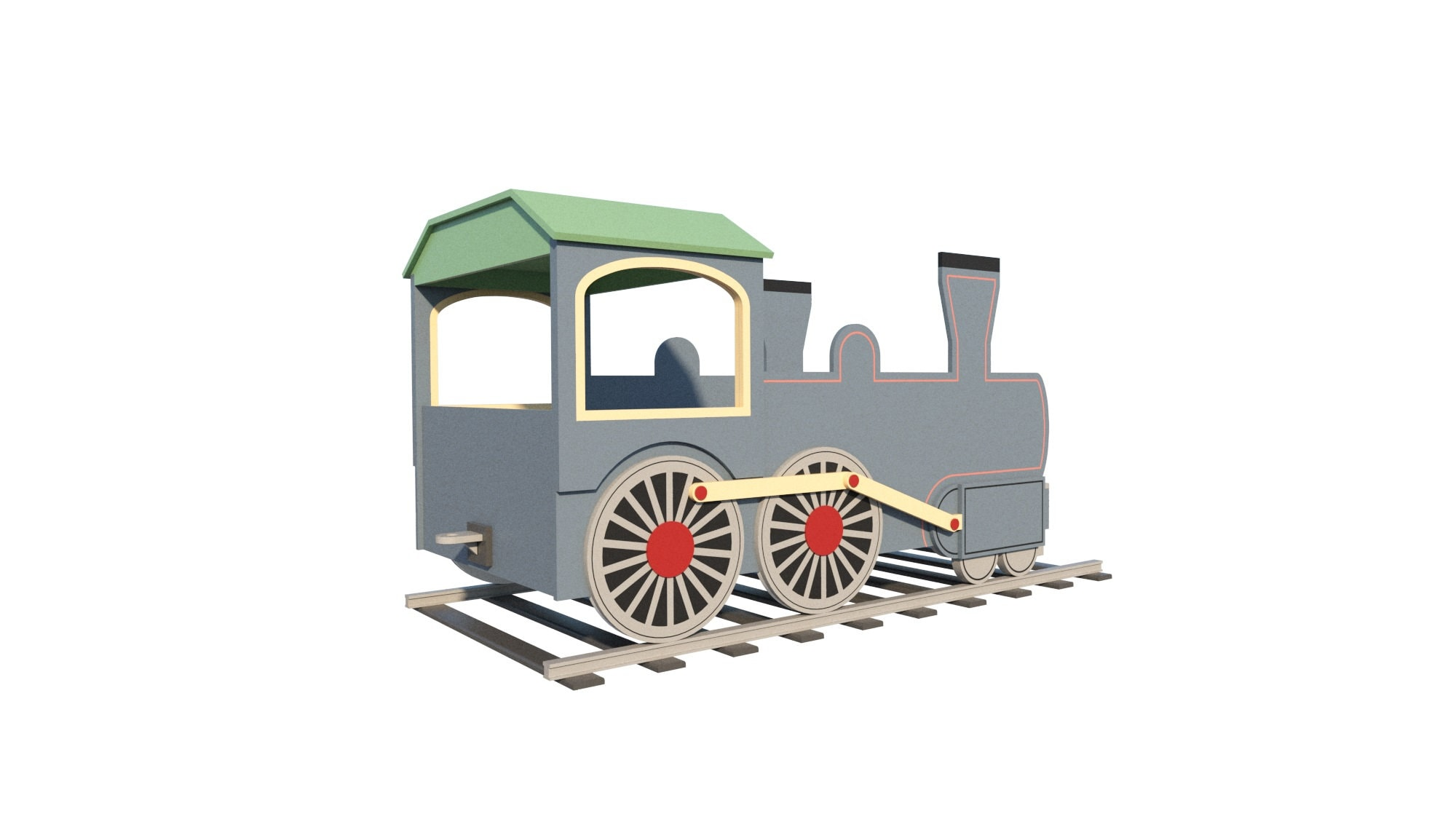 Train Engine Bed Woodworking Plan For Child DIY Kids Bedroom Furniture on train car house plans, railroad car home, passenger car house plans, freight car house plans,