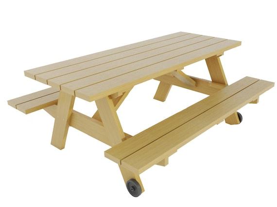 Incredible Picnic Table W Benches Plans Diy Outdoor Patio Garden Furniture Build Your Own Inzonedesignstudio Interior Chair Design Inzonedesignstudiocom