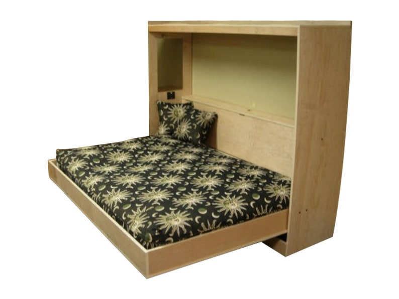 Murphy Bed.Horizontal Murphy Bed Plan Queen Wall Bed Plans Diy Furniture Build Your Own