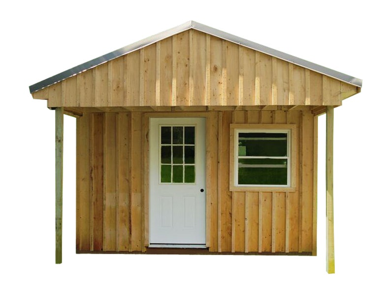 Cabin Tiny House Plans DIY Modern Outhouse 12x20' Guest House Cottage 240  sq/ft