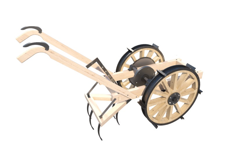 Walk Behind Tractor Plans DIY Homemade Two Wheel plow Agriculture Equip