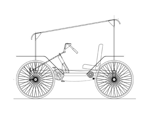 Easy Drawing Of Cycle Rickshaw