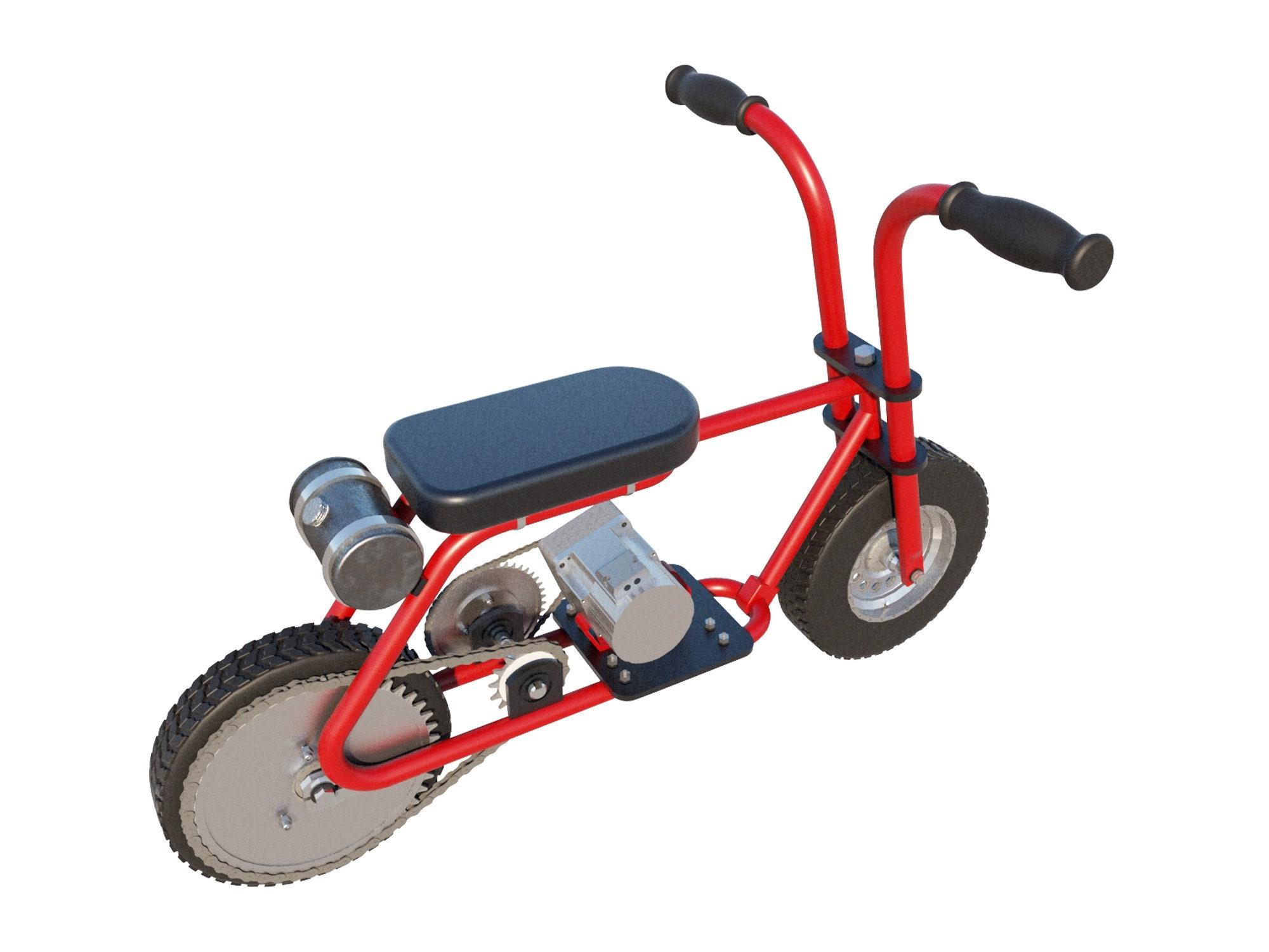 pocket mini bike plans diy motorbike gas electric motor. Black Bedroom Furniture Sets. Home Design Ideas