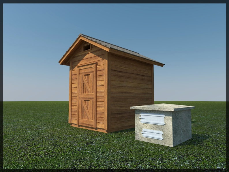 Smokehouse Plans 8' x 6' Smoker Smoke House Building Plan Build Your Own DIY
