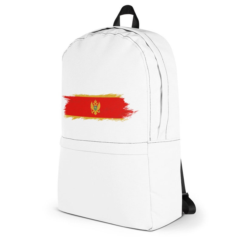 The Proud Flag of Montenegro! Backpack Hand Painted Brush Stroke Design of the Montenegro Flag