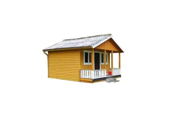 Cabin Plans With Loft Diy Cottage Guest House Building Plan Etsy