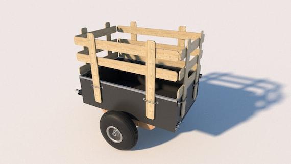 Trailer Plans Diy Utility Dump Cart Garden Yard Lawn Mower Etsy
