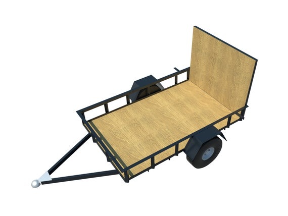 Utility Trailer Plans DIY 5\' x 8\' Open Lawn Cargo   Etsy