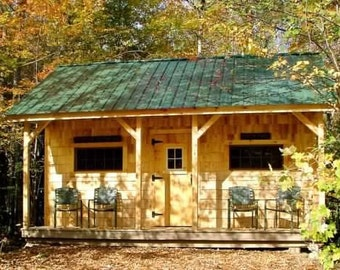 Build your own 1 room tourist or guest cabin (DIY Plans) Fun to build!
