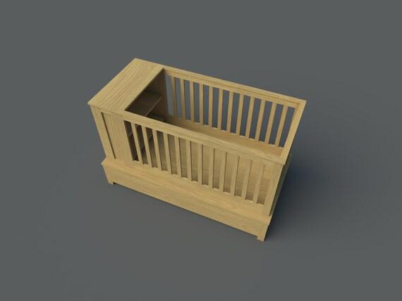 Baby Crib Plans Diy Newborn Bed Sleeper Storage Nursery Furniture Build Our Own