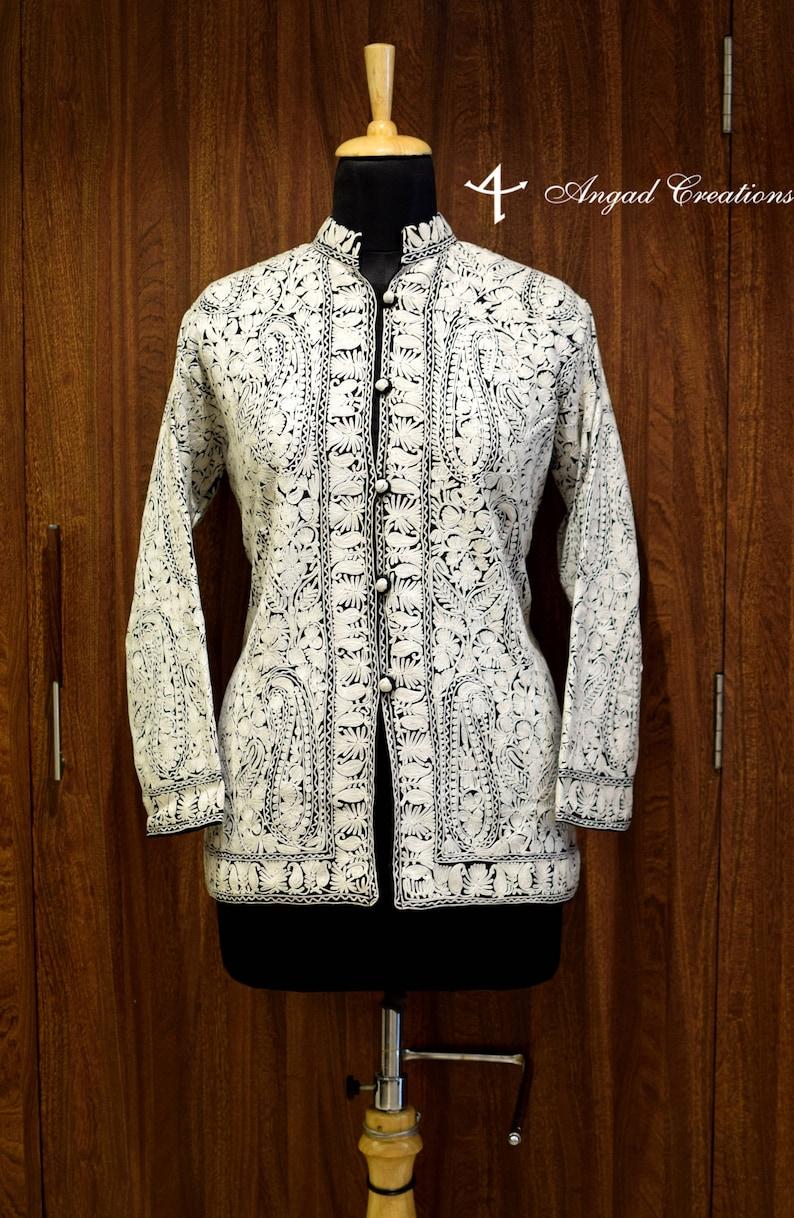 Bohemian Women Jackets Kashmiri Jackets Black Jacket Boho Coats Kashmiri Jamawar Embroidered Jacket Rich Hippie Jackets Short Jacket