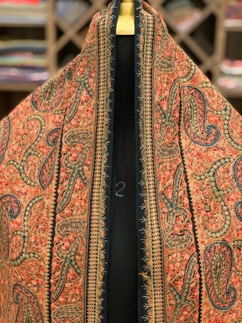 a4df90db3e All Over Sozni Embroidered Pure Wool Shawl Boho Girl Shawl   Etsy
