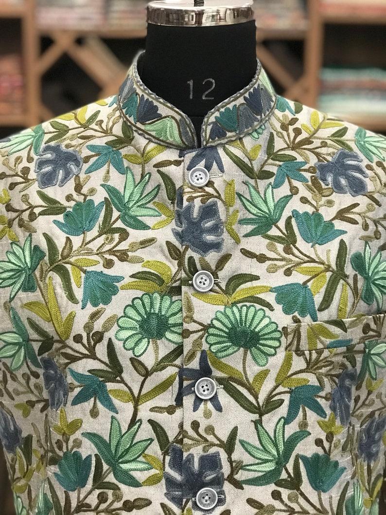 Jawahar Jackets Embroidered Nehru jackets Men Jackets Boho Jacket Boys Jacket Nehru Jacket with Kashmiri Aari Embroidery Modi Jackets