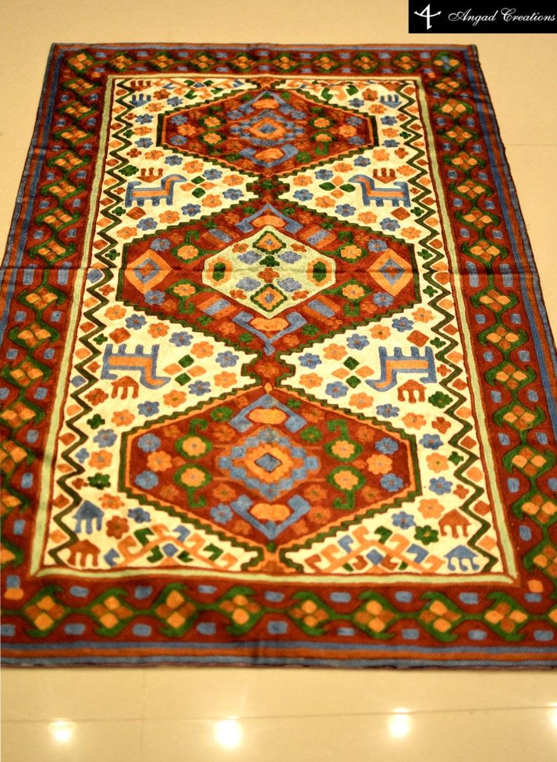 Piękny Orientalny Dywan Kaszmiru Pokój Dzienny Dywan Orientalny Dywan Biały Dywan Tradycyjny Dywan Powierzchnia Dywany 3 X 5 Jadalnia Dywan
