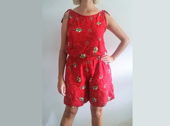 1990's Batik Shorts & Tank Set - Vintage Emalu Sty