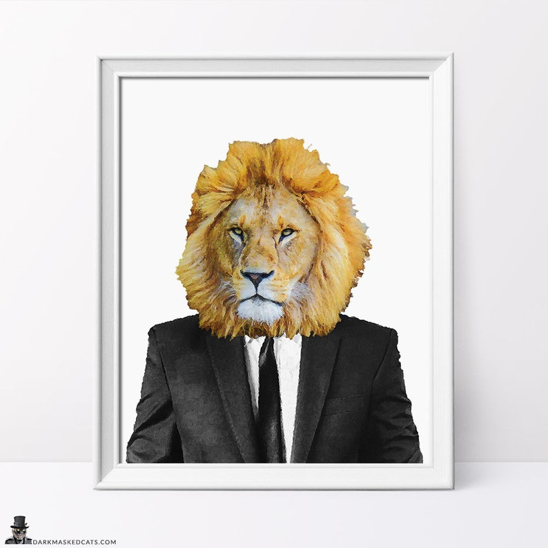 image about Printable Lion Pictures identified as Lion Print, Printables, Pets within just apparel, Printable lion artwork, Animal Portrait, Animal Print, Lion within just match, electronic artwork, printable artwork