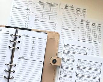 Sampler - Weekly Checklist - Task Tracker Planner Inserts -  Sleek Collection
