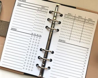 Monthly Task | Tracker Planner Inserts for Personal Size Planners