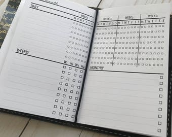 Monthly Task | Tracker Planner Inserts for Traveler's Notebook pocket Size Planners
