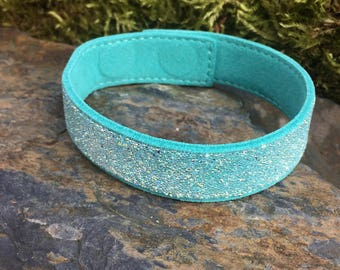 Swarovski Crystal Suede Cuff