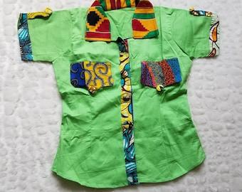 Ankara Shirt/Ankara Top/Ankara Blouse/Ankara Wear