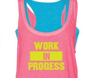 Workout tank top, pink, tank top, double layered