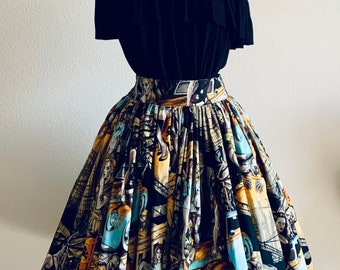 Pin Up Pit Stop Skirt