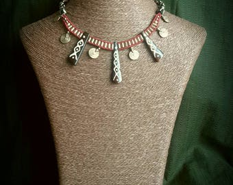 Etnic/tribal macramé necklace
