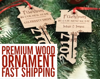 First Home Ornament 2018 First Christmas New Home Ornament Housewarming Gift Our First Home New Home Gift Under 15