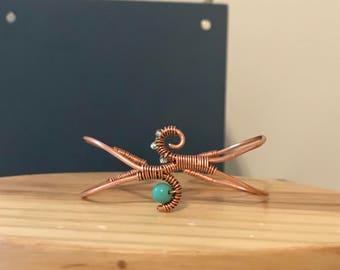 Copper & Teal Cuff