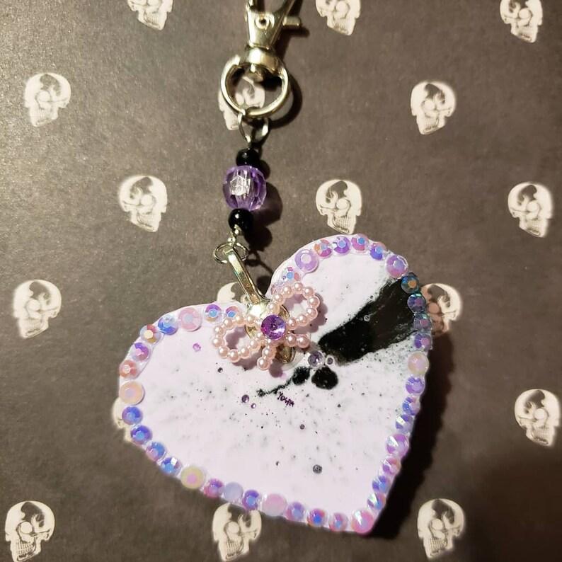 Witch Pastel Purple Heart Keychain