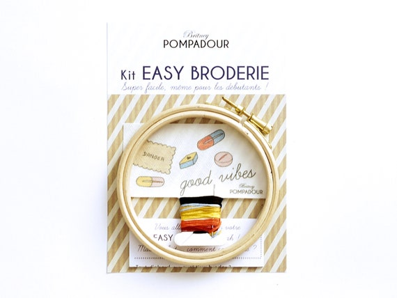 Good vibes pills- EASY BRODERIE Kit