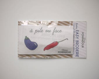 Aubergine/piment - Extra EASY BRODERIE