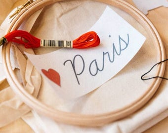 Love Paris - Tote bag EASY BRODERIE