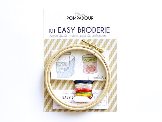 Milk and Tomato- EASY BRODERIE Kit