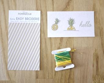 Hello Ananas - Extra EASY BRODERIE