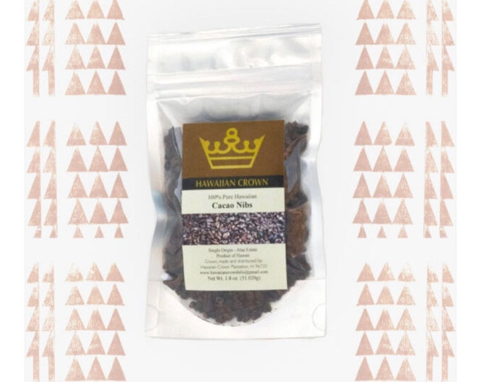 Pure Hawaiian Cacao Nibs- 1.8oz