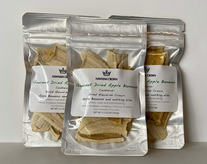 Wholesale Bulk 3 Bags Gourmet Dried Apple Banana- 1.5oz