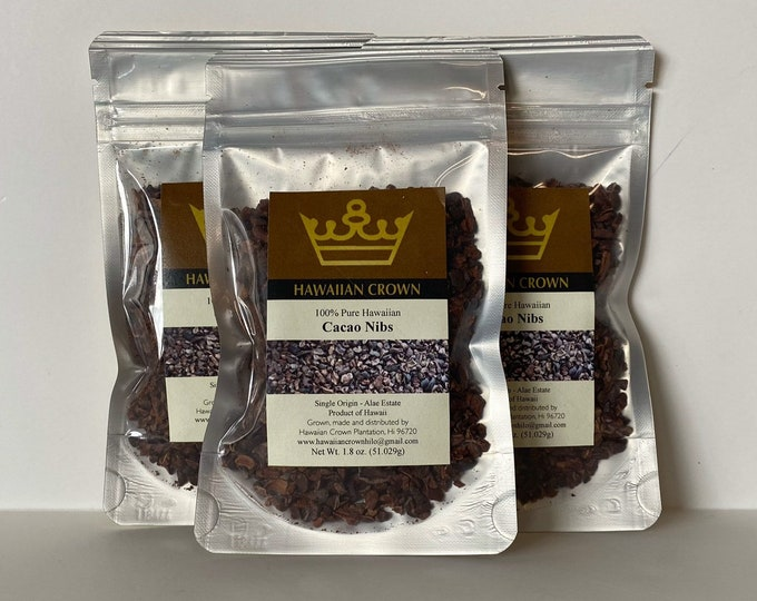 Wholesale Bulk 3 Bags Pure Hawaiian Cacao Nibs- 1.8oz