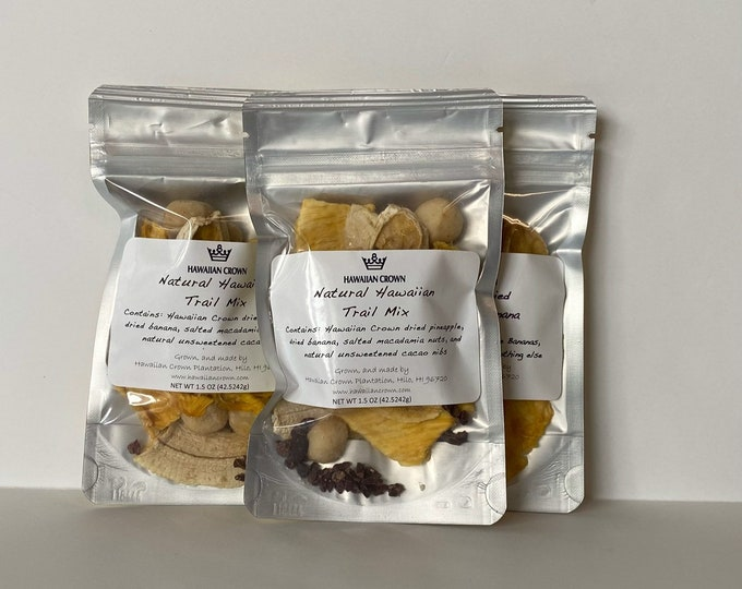 Wholesale Bulk 3 Bags Natural Hawaiian Trail Mix- 1.5oz