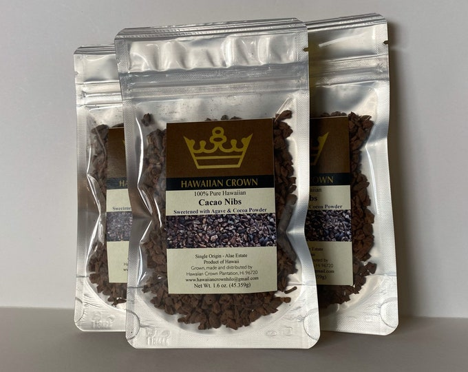 "Wholesale Bulk 3 Bags Agave and Cocoa Powder Cacao ""Nibbies""- 1.6oz"
