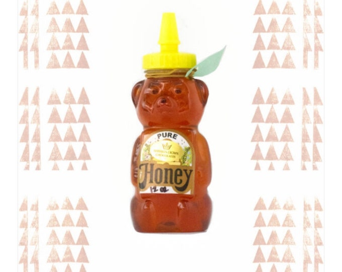 Local Hawaiian Raw Honey- 12oz Bear