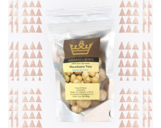 Salted Hawaiian Macadamia Nuts- 3oz