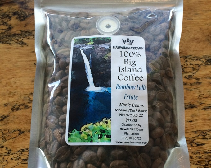 Rainbow Falls Estate 100% Pure Hawaiian Coffee- 3.5oz