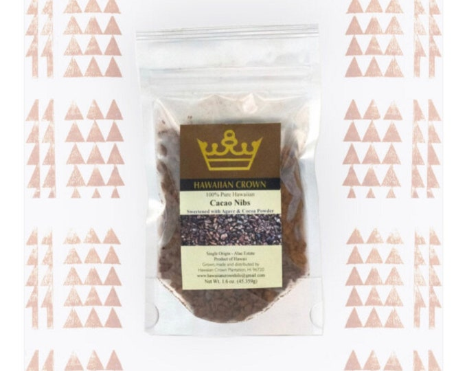 """Agave and Cocoa Powder Cacao """"Nibbies""""- 1.6oz"""