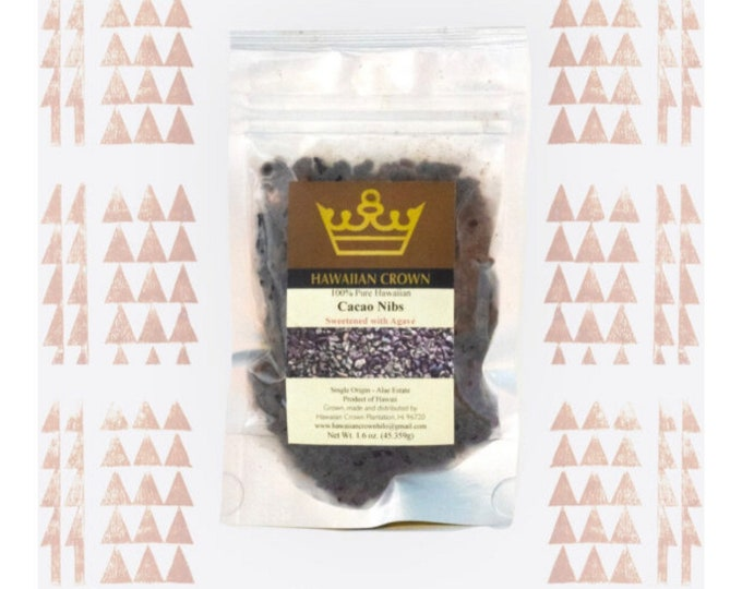 Agave Sweetened Cacao Nibs- 1.6oz